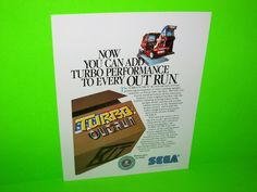 TURBO OUTRUN KIT By SEGA 1988 ORIGINAL NOS VIDEO ARCADE GAME PROMO SALES FLYER #arcadeflyers #videogameflyer #videoarcade #SEGAOUTRUN
