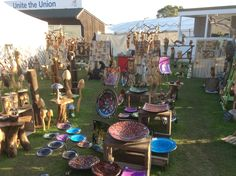 Our favourite stall of all at the @HarrogateFlower and various other shows throughout the year that we visit in #Harrogate  #HandCrafted indoor and outdoor pieces.