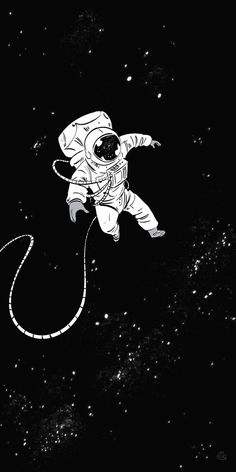 Wallpaper Space, Dark Wallpaper, Galaxy Wallpaper, Wallpaper Backgrounds, Iphone Wallpaper, Drawing Wallpaper, Astronaut Drawing, Astronaut Illustration, Space Illustration