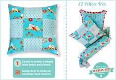 Learn To Sew: Xtra EZ Nine-Patch Pillow | Sew4Home