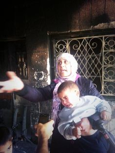 Arson attack by illegal #Israeli settlers against home of family with 5 kids in Sinjil village 23 June