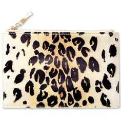 kate spade new york Leopard Pencil Pouch ($30) ❤ liked on Polyvore featuring leopard