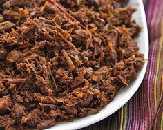Beef Machaca. Mexican.  General recipe for shredded beef to put into tacos, burritos, enchiladas, or anything you want.