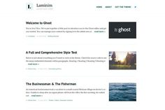 Laminim — Ghost Theme for Bloggers by Curiositry on @Graphicsauthor