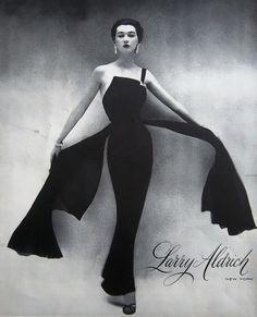 Larry Aldrich Silk Chiffon Evening Dress 1959