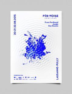 For Noise music festival poster design.