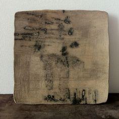 Urushi (Japanese lacquer) glazed plate by Nishikawa Satoshi, exhibition now on at Gallery Kaede, Minami Aoyama.