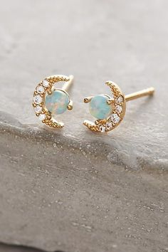 Hipster Fashion: Opal Crescent Earrings