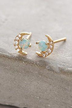 Opal Crescent Earrings - anthropologie.com