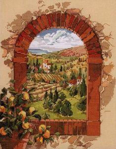 Gallery.ru / есть схемка и в РМ - Dreaming_of Tuskany - embroidery