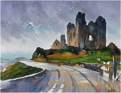 """""""a beautiful place i've never seen"""" thomas w schaller watercolor 15x20 inches 19 may 2014"""