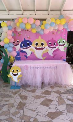 Baby Shark Birthday Party Girl Ballons 31 Ideas For 2020 2nd Birthday Party For Girl, Second Birthday Ideas, Girl Birthday Themes, Girl Theme Party, Birthday Ideas For Girls, Turtle Birthday, Turtle Party, Baby Hai, Shark Party Decorations