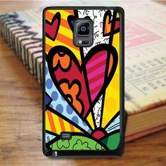 Romero Britto Pop Art Colorful Samsung Galaxy Note 4 Case