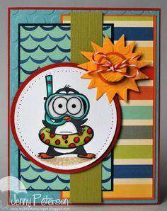 Snorkel Fun Penguin - Your Next Stamp