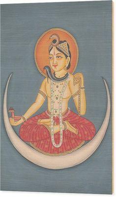 Hindu God Shiva Shankar Moon Miniature Artwork Painting India Yoga Painting by A K Mundhra Mughal Paintings, Indian Paintings, Shiva Art, Hindu Art, Yoga Kunst, Yoga Painting, Indiana, Yoga India, Shiva Shankar