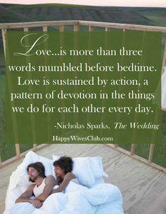 Wedding Quotes  : The Wedding Nicholas Sparks
