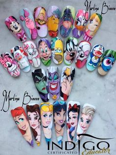- You are in the right place about diy Here we offer you the most beautiful pictures about the diy - Disney Acrylic Nails, Best Acrylic Nails, Acrylic Nail Designs, Disney Nails Art, Disney Princess Nails, Cartoon Nail Designs, Disney Nail Designs, Cute Nail Art, Cute Nails