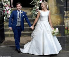 Declan Donnelly kisses new wife Ali Astall after Newcastle wedding #dailymail