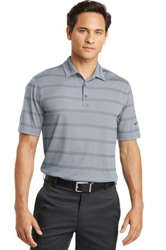 Nike Golf Dri-FIT Fade Stripe Polo. 677786