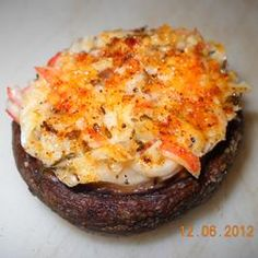 Crab Stuffed Mushrooms Recipe. Sorry Kate, I'm leaving off the cheese and replacing it with ground cashews.