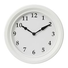 SÖNDRUM, Horloge murale, blanc
