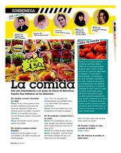La comida- Article about 5 Barcelonan youth and their opinions about food