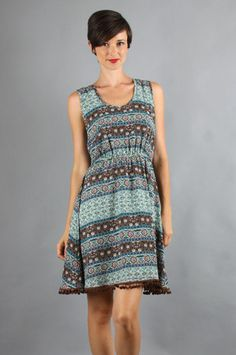 The Reyna Babydoll Dress in Blue by Voom by Joy Han at CoutureCandy.com