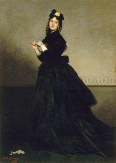 Emile Auguste Carolus-Duran, The Lady with the Glove (Pauline Croizette), 1869. Paris, Musée d'Orsay