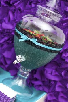 A Touch Of Style Events 's Birthday / Purple and Teal - Photo Gallery at Catch My Party 50th Party, 30th Birthday Parties, 11th Birthday, Anniversary Parties, Birthday Ideas, Sleepover Party, Slumber Parties, Dessert Table Birthday, Party World