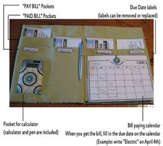 bill organizer. i want this or need to figure out a way to make something very similar