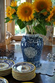 Blog Archives - The Enchanted Home French Country feeling from Sunflowers and china color