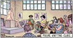 figure knitting class - Bizarro by Dan Piraro. March 7, 2010  (1100×577)