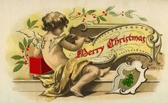 Christmas Cherub Image