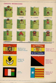 Spain - 1936-39. - GC - Rank Badges of the Republican Army
