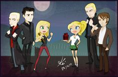 Spike, Angel and Buffy vs. Sookie, Eric and Bill. too perfect