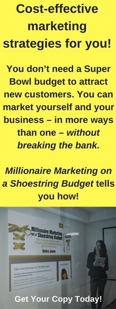 Looking for cost-effective ways to market your business? Open the pages of this book and discover how to gain top-of-mind awareness - without breaking the bank. #marketingtips #marketingstrategies #costeffectivemarketing #marketingbook https://MillionaireMarketingonaShoestringBudget.com