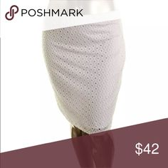 🆕List! Alfani White Eyelet Pencil Skirt! NEW! White lace eyelet. Knee length. New with tags! Gorgeous! Alfani Skirts Pencil