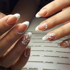 - Französische Nägel Ombre Fishtail Braids – French Nails Ombre Fis … – F - Bride Nails, Prom Nails, Fun Nails, French Nails Elegant, French Tip Nails, Wedding Day Nails, Wedding Nails Design, Gel Nail Art, Acrylic Nails