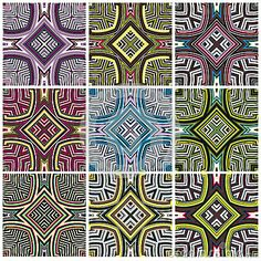 Zimbabwe textile pattern Set by Sangoiri, via Dreamstime