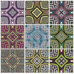Zimbabwe textile pattern Set by Sangoiri, via Dreamstime
