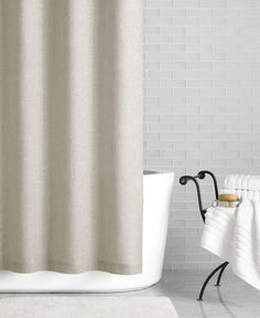 Hotel Collection Linen 72 X 84 Extra Long Shower Curtain Created For Macys