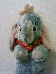 "Disney Dumbo Plush Fisher Price Floppy Blue Shimmery Soft Stuffed Elephant 19"" | eBay"