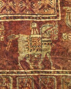 Орнамент и стиль в ДПИ - Сокровища Пазырыкских курганов. V-IV в. до н.э. Ковер. Эрмитаж