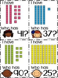 I Have, Who Has: Place Value Blocks