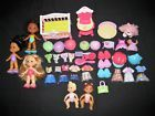 43 piece Fisher Price Snap N Style Doll LOT Girls Babies Dog Crib Highchair Bed