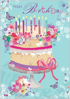 Card Ranges » 4676 » Birthday Cake - Abacus Cards - Greetings Cards, Gift Wrap & Stationery #compartirvideos.es #happybirthday Más