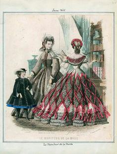 June 1862 - that skirt is so weird in how much bigger than the hoop it is