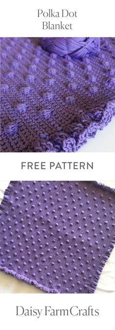 FREE PATTERN - Crochet Polka Dot Blanket - Daisy Farm Crafts