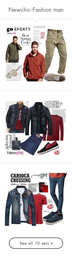 """""""Newchic-Fashion man"""" by autumn-soul ❤ liked on Polyvore featuring H&M, Christian Dior, men's fashion, menswear, Chanel, Simplex Apparel, Ray-Ban, BackToSchool, Armani Jeans and Vans"""