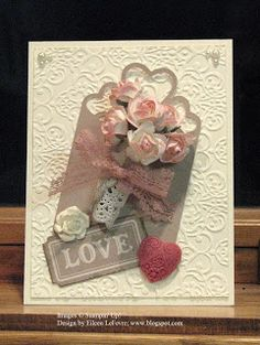"""♥ the Stampin' Up! """"Artisan Embellishment Kit"""" that Eileen has used here on her gorgeous card.  From Eileen's """"Stampin' Fever"""" Blog."""
